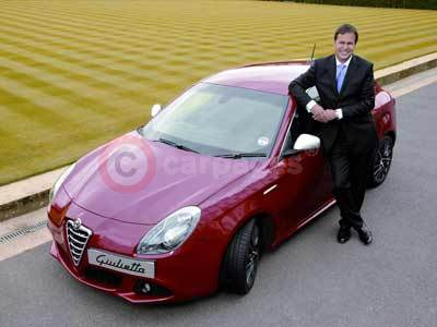 Peter Jones With The Alfa Romeo Giulietta