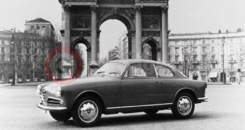 The Alfa Romeo Giulietta Sprint 1954