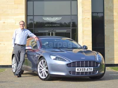 Dr Ulrich Bez With The Aston Martin Rapide