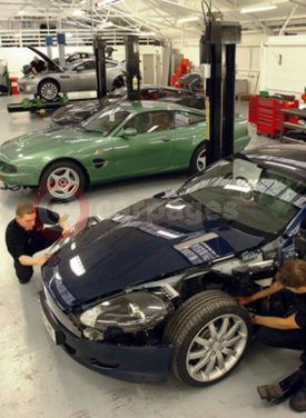 Aston Martin Accident Repair Centre At Works Service