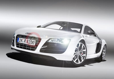 Audi R8 V10 with LED Headlights