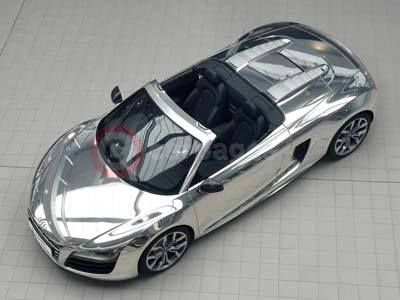 Audi R8 Spyder With Chrome Finish