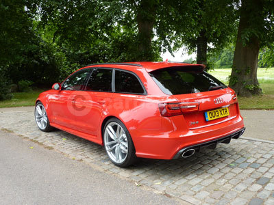 Audi RS 6 (Rear Side View) (2013)
