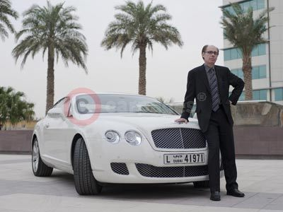 Jeffery Deaver With The Bentley Continental GT