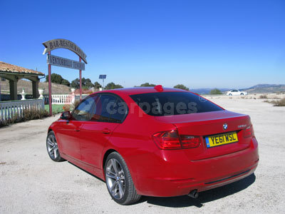 BMW 3-Series Side/Back View (2012
