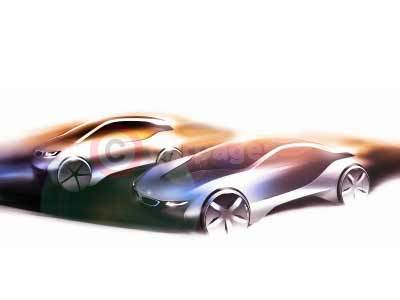 BMW i8 and i3 Design Sketch