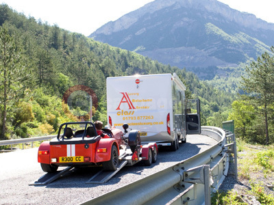 Motorhome With The Caterham Roadsport 175