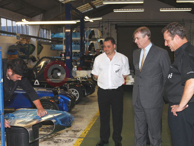 Prince Andrew, The Duke of York At Caterham's Factory