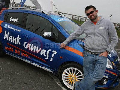 Ian Cook With His 'Blank Canvas' Chevrolet Spark