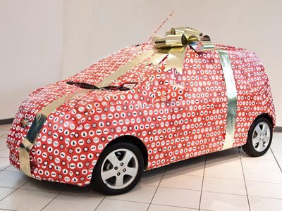 Gift Wrapped Chevrolet Spark