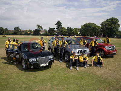 Lashings World XI Cricket Team Receive Their Chrysler Vehicles
