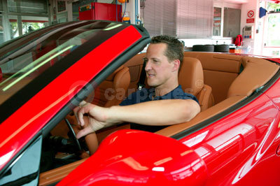Ferrari California with Michael Schumacher