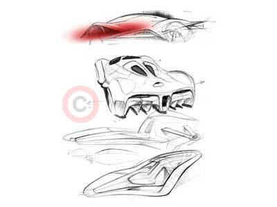 Ferrari World Design Contest Design Sketch