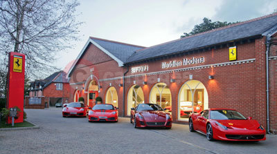 The Ferrari Dealership Meridien Modena in Lyndhurst, Hampshire