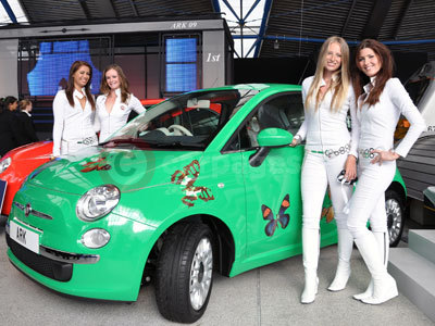 The Fiat 500 Decorated By Damien Hirst