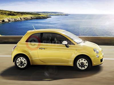 Fiat 500 in Countrypolitan Yellow