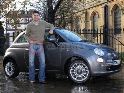 Tom Chambers With His New Fiat 500 TwinAir