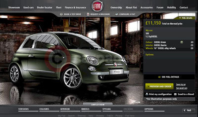 Fiat 500byDiesel Website