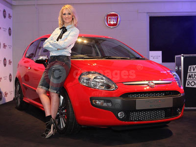 Edith Bowman With The Fiat Punto Evo