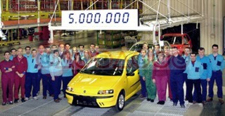 Fiat Celebrate Production Of The 5,000,000 Punto