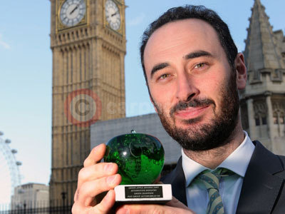 Luis Cilimingras With Fiat's Green Apple Award