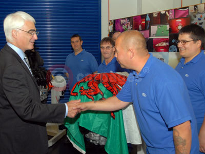 Chancellor Alistair Darling Meets Ford Staff