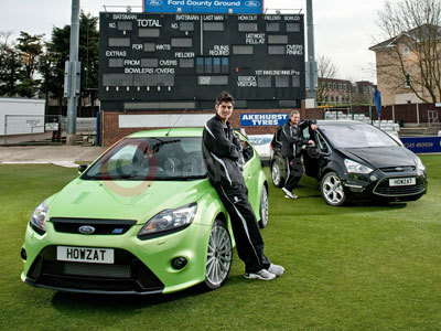 Alastair Cook With His Ford Focus RS and Graham Gooch With His Ford S-MAX