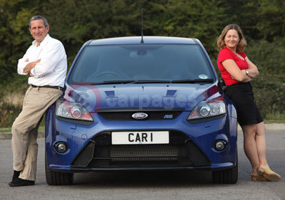 Jeremy Walton and Alyson Marlow With The Ford Focus RS