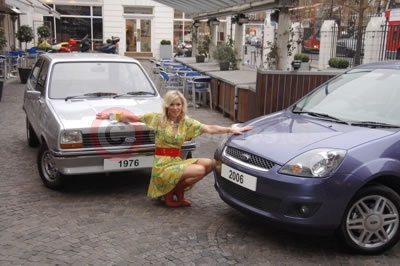 Nell McAndrew Helps Celebrate 30 years of Ford Fiesta