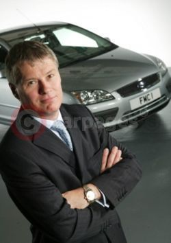 Ford of Britain Managing Director Paul Thomas With The New Focus