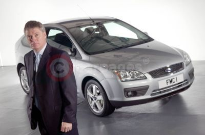 Ford of Britain Managing Director Paul Thomas With The All-New Ford Focus