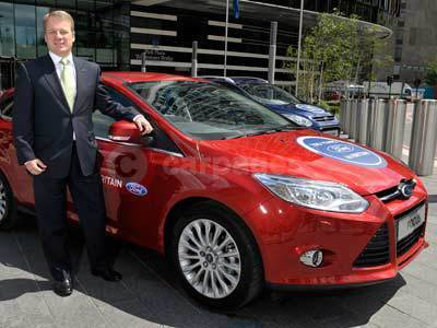 Mark Ovenden, New Managing Director, Ford of Britain With The Ford Focus