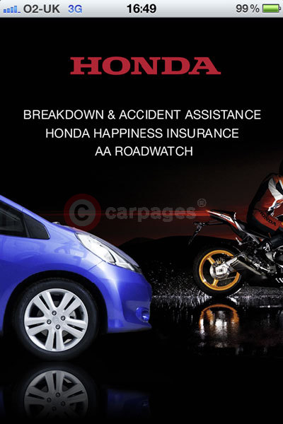 Honda assistance app 2013 for Honda car app