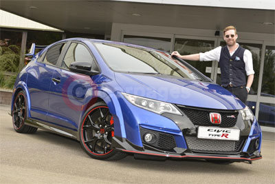 Ricky Wilson with his new Honda Civic Type R