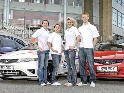 Honda Power of Dreams Team With Their Honda Cars