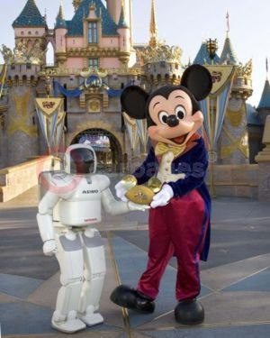 ASIMO and Mickey Mouse
