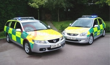 Accord Tourer and Civic Type S For Essex Ambulance
