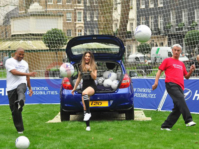 Hyundai Boot Shoot Event With John Barnes, Carly Cole and Ian Rush