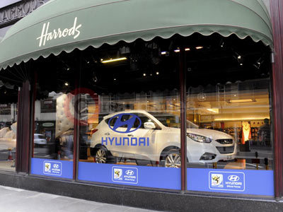 Hyundai ix35 On Display At Harrods