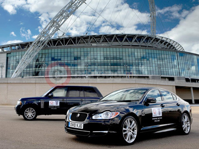 Jaguar XF and Range Rover