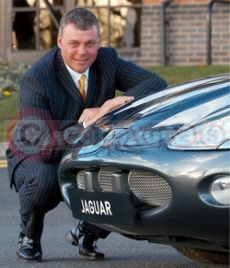 Darren Clarke With His Jaguar XKR