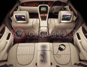 Jaguar New XJ Interior Featuring Optional Sophisticated Mobile Multimedia System