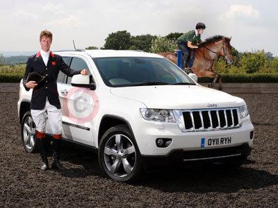 William Fox-Pitt With His New Jeep Grand Cherokee