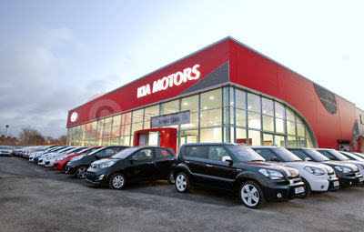 Arnold Clark's Kia Red Cube Showroom in Northwich
