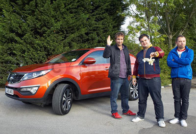 Kia Characters, Keith, Ian and Andy, With The Kia Sportage