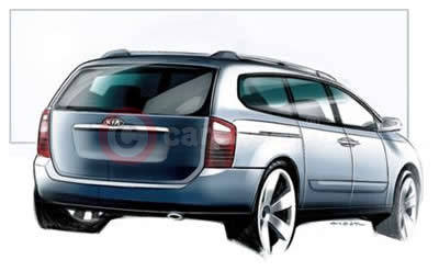 Design Sketch Of The New Kia Sedona