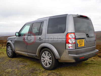 The Land Rover Discovery 4 Rear View