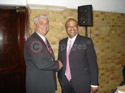 Stuart Clift and the Rt Hon Paul Boateng, British High Commissioner, South Africa
