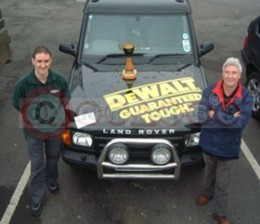 The Winning Team With Their Land Rover Discovery