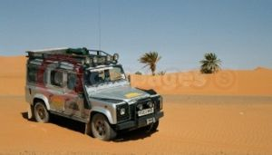 The 'Superchipped' Land Rover Defender Td5, Pictured During The 2003 Morocco Adventure Safari